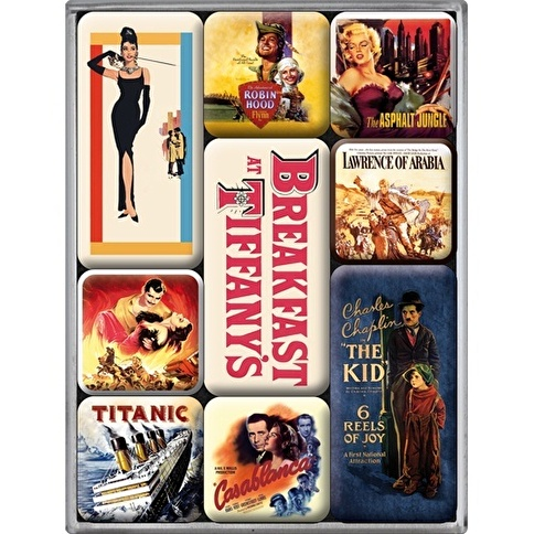 Nostalgic Art Movie-Art Retro Magnet Set 9P Renkli